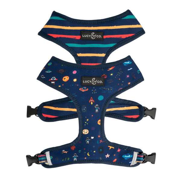 Space Doodle Reversible Dog Harness
