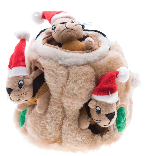 Holiday Hide-A-Squirrel Dog Toy - Lola & Penelope's