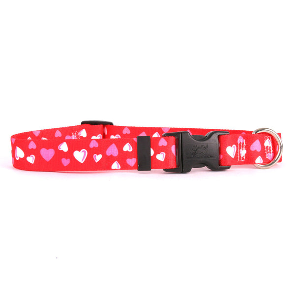 Red Hearts Dog Collar