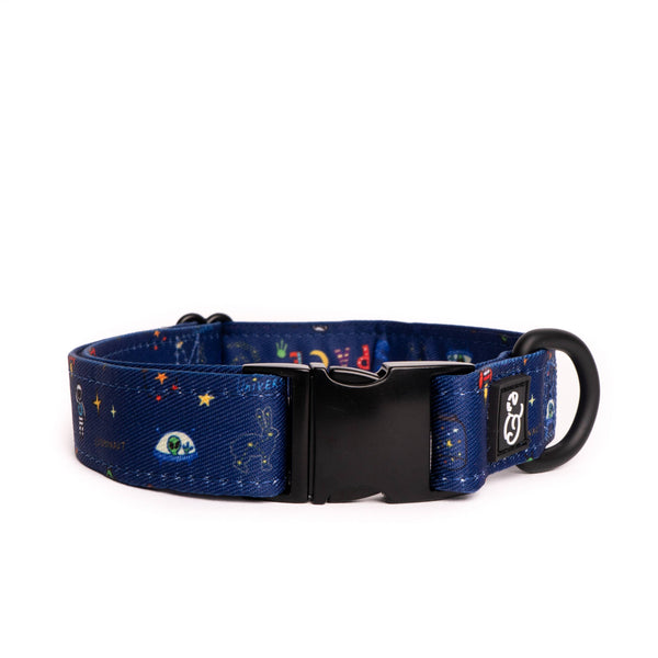 Space Doodle Dog Collar