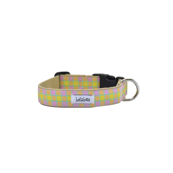 Citron Grid Dog Collar