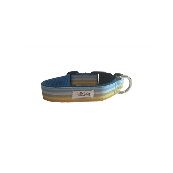 Ombre Stripe in Blue Dog Collar