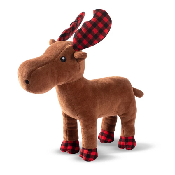 Holiday Buffalo Check Moose Plush Toy