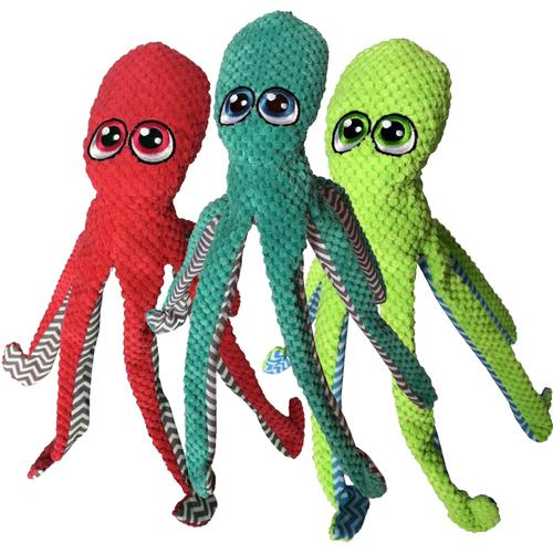 Octopus Durable Plush Dog Toy