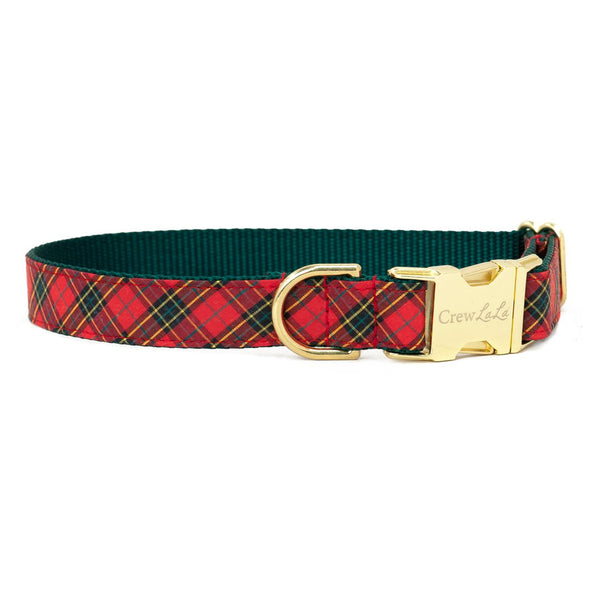 Beaufain Plaid Metal Buckle Dog Collar