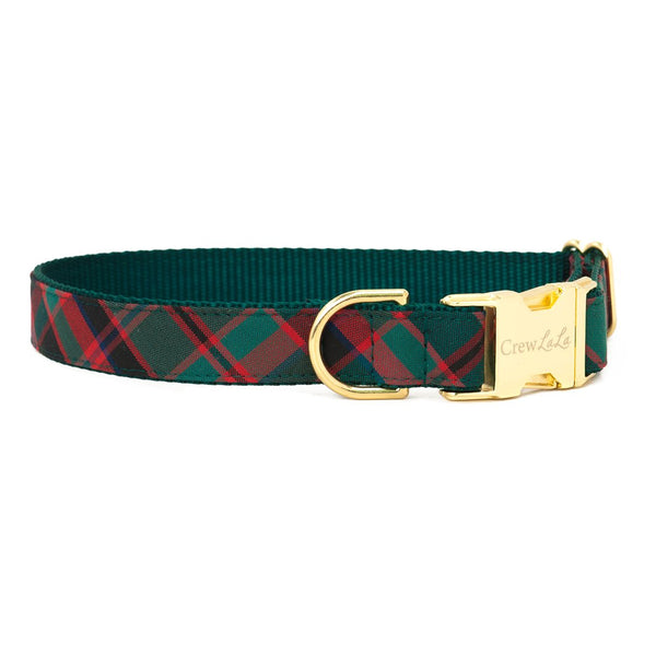 Holiday Plaid Collar With Matching Lead Available