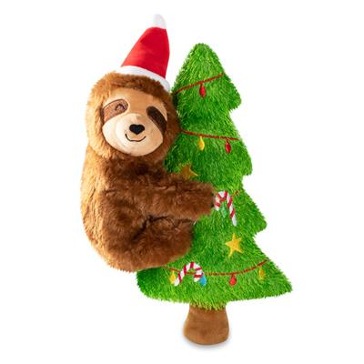 Merry Slothmas Plush Dog Toy