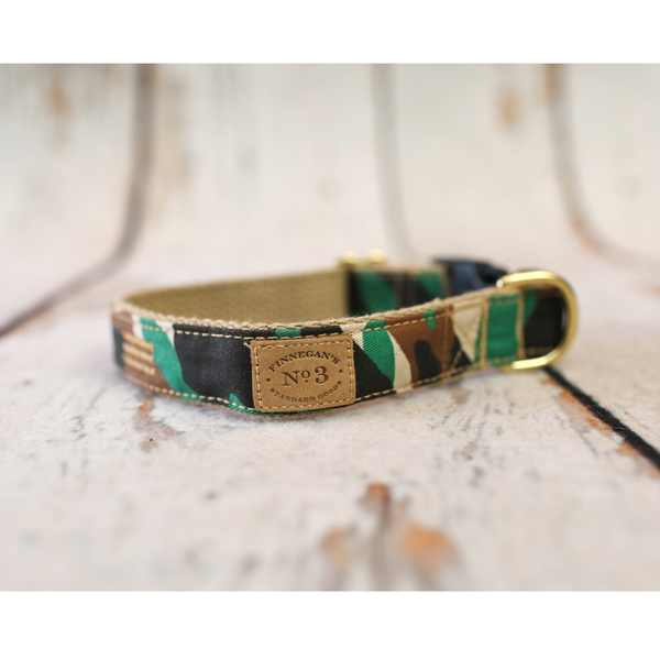 Camouflage Dog Collar Matching Lead Available