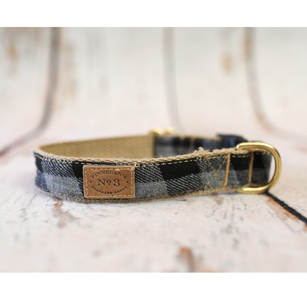 Gray Buffalo Plaid Collar & Matching Lead Available