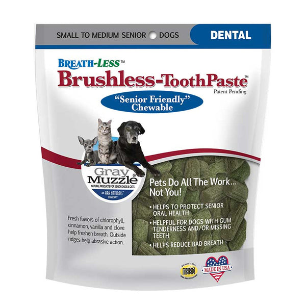 Gray Muzzle Brushless-Tooth Paste Soft Chews - Lola & Penelope's