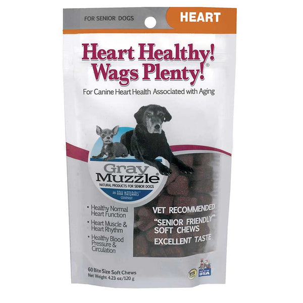 Gray Muzzle Heart Healthy! Wags Plenty! Soft Chews - Lola & Penelope's