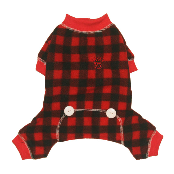 Red Lumberjack Dog Pajamas