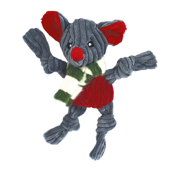 Knotties Holiday Mouse Plush Dog Toy