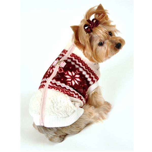 Snowflake Fleece Dog Vest