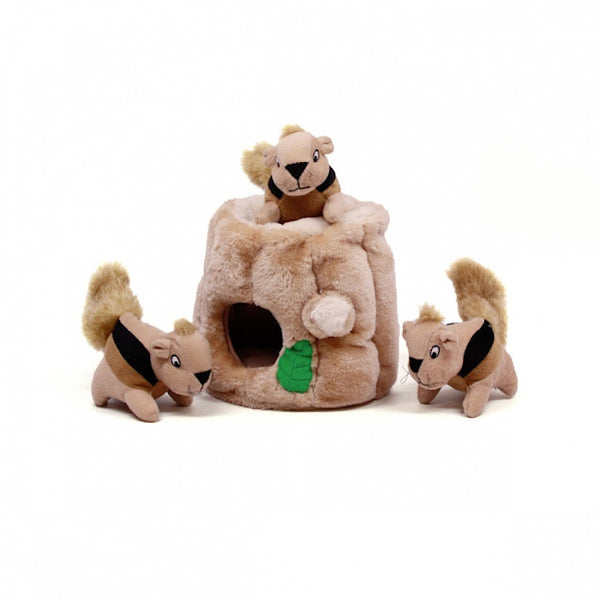 Hide-A-Squirrel Interactive Burrow Dog Toy