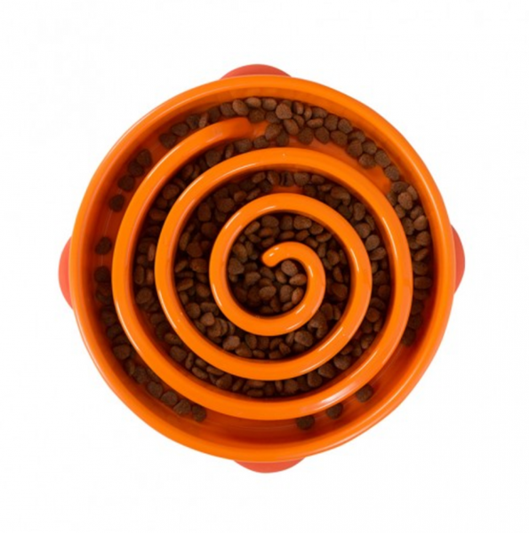 Swirl Orange Large Slow Feeder