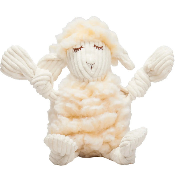 Fluffer Knottie Louise The Lamb Plush Dog Toy