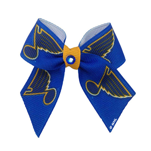 St. Louis Blues Dog Hair Bow
