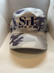 STL Dog Mom Gray Camo Baseball Cap