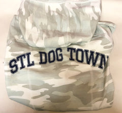 STL Dog Town Cropped Zip Up Hoodie