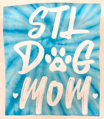 STL Dog Mom Tie Dye T-Shirt