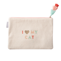 I Love My Cat Canvas Pouch