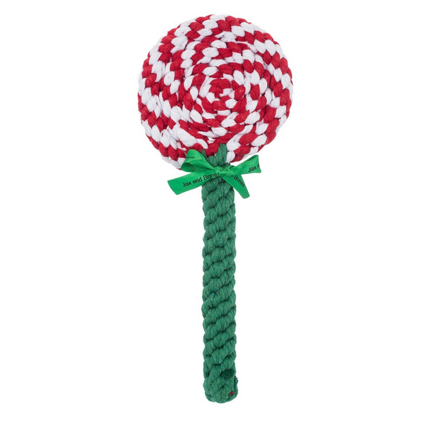 Holiday Lollipop Rope Dog Toy