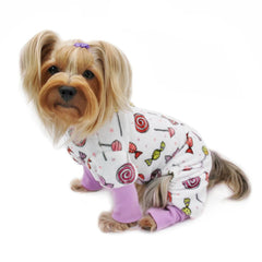 Ultra Soft Minky Sweet Candies Dog Pajamas