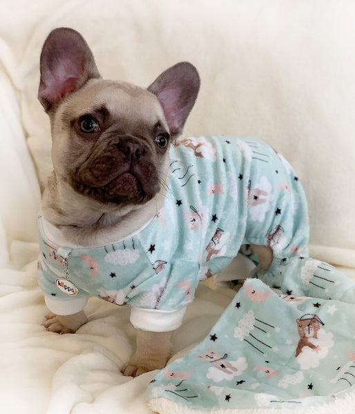 Ultra Soft Minky Bedtime Bears Dog Pajamas