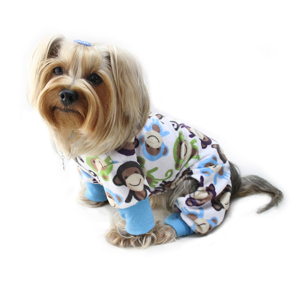 Ultra Soft Minky Monkey Dog Pajamas