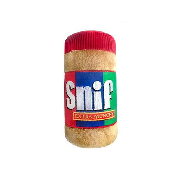 Sniff Peanut Butter Jar Plush Dog Toy