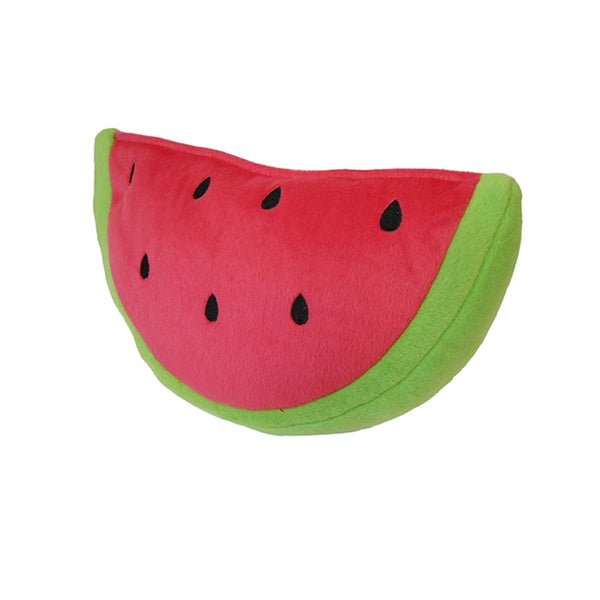 Plush Watermelon Dog Toy