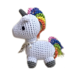 Mystic The Unicorn Mini Crochet Dog Toy