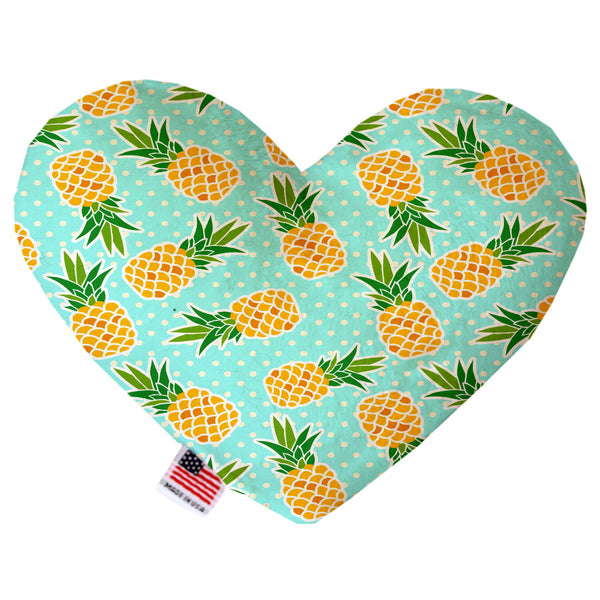 Pineapple & Polka Dot Heart Plush Dog Toy
