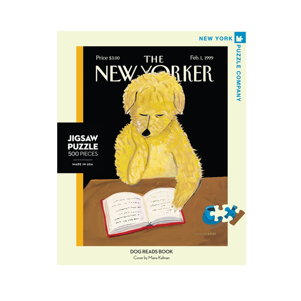 New York Jigsaw Puzzles -Dog Reads Books