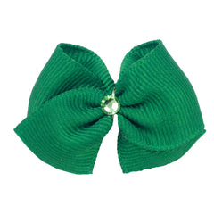 Crystal and Ribbon Dog Hair Bows
