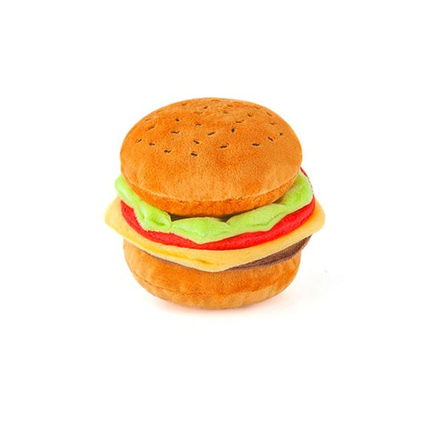American Classic Burger Plush Dog Toy