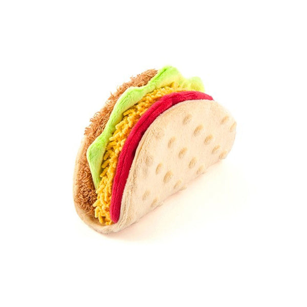 International Classic Taco Plush Dog Toy