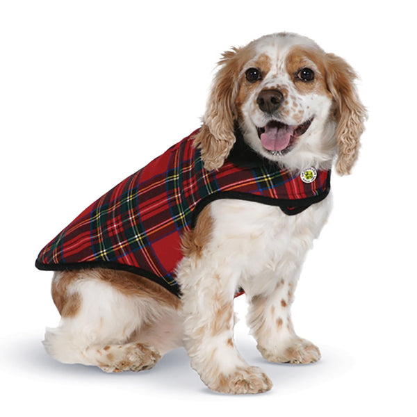 Fleece Lined Red Plaid Dog Coat - Lola & Penelope's