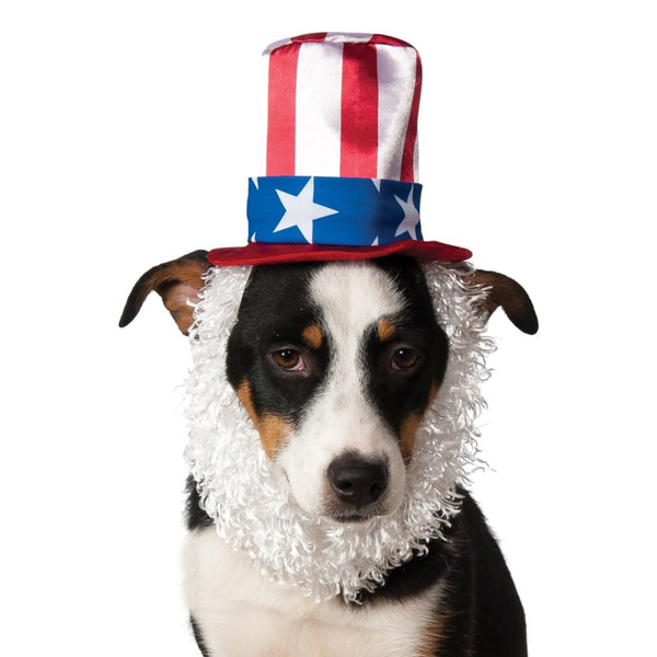 Uncle Sam Top Hat & Beard Pet Costume