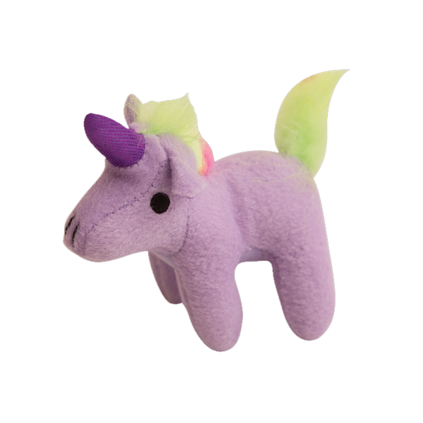 Mini Magical Unicorn Plush Squeaker Dog Toy