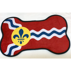 St. Louis Flag Dog Bone Food Mat