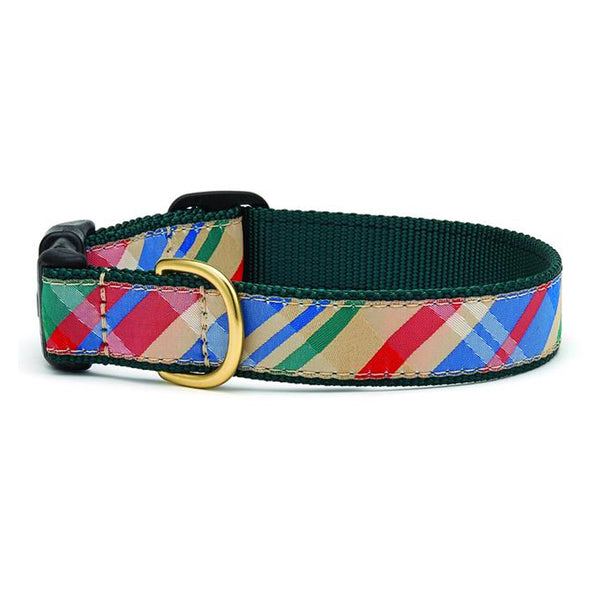 Madras Dog Collar & Matching Lead Available