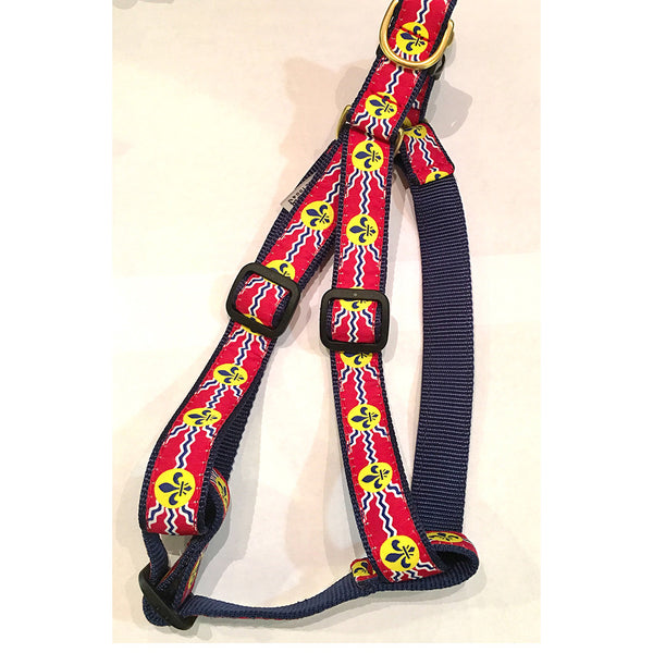 St. Louis Flag Dog Harness & Matching Lead Available