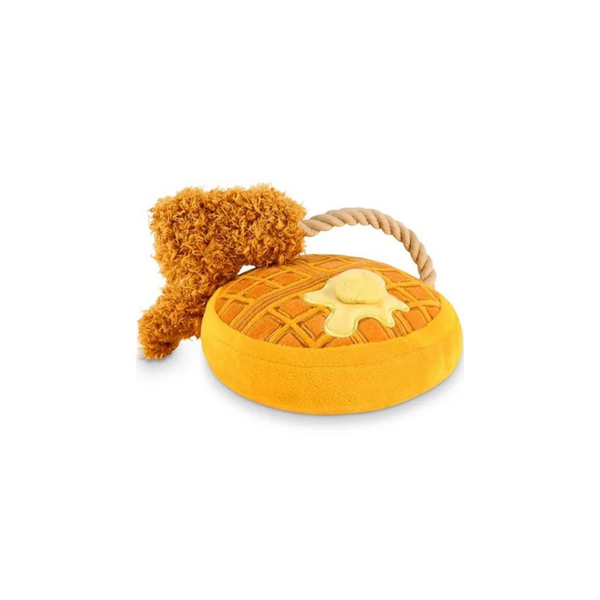 Chicken and Woofles Plush Dog Toy