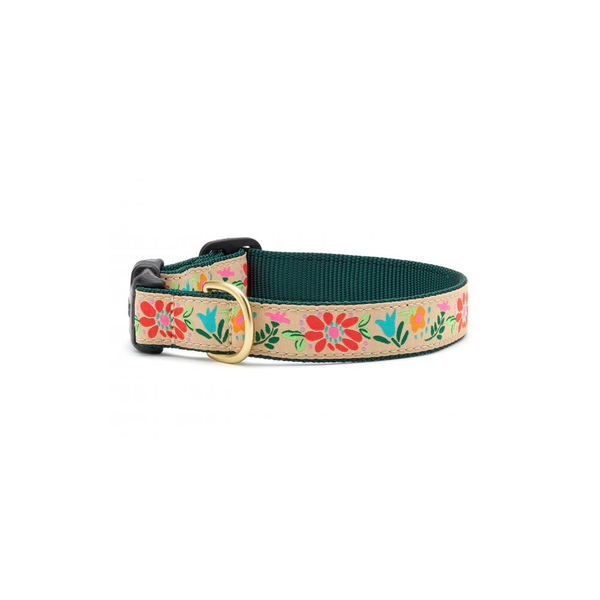 Tapestry Floral Dog Collar