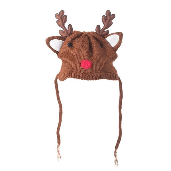 Reindeer Tassel Dog Hat