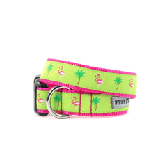Flamingo Dog Collar and Lead