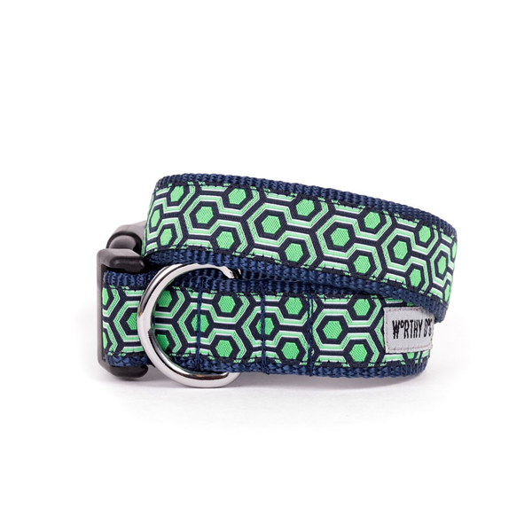 Blue Hexagon Dog Matching Lead Available