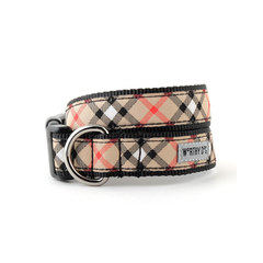 Tan Plaid Collar and Lead